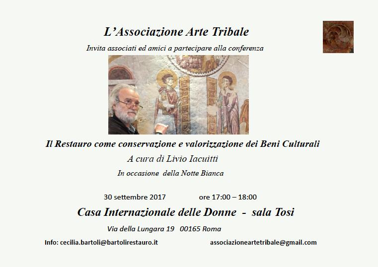 Eventi e Mostre - Restauro - Arte Tribale Associazione Culturale - Spoleto Umbria - Italy - Carmen Moreno
