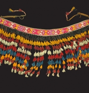 Ornamento asia Ceentrale a ricamo Lana, cotone e seta H 87cm x 138cm