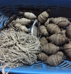 Tessitura fibre vegetali il loto