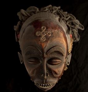 Maschera, Chokwe, Angola  20x20cm